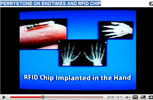 PERRYSTONE ON ENDTIMES AND RFID CHIP